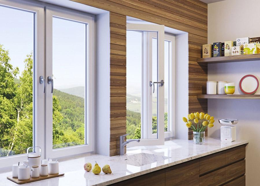 Окна Рехау на кухне